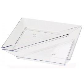 Plastic PS proefschotel Driehoekige vorm 5x10cm (576 stuks)