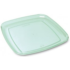 "Bandeja Cuadrada Dura ""Water Green"" 35x35cm (5 Uds)"