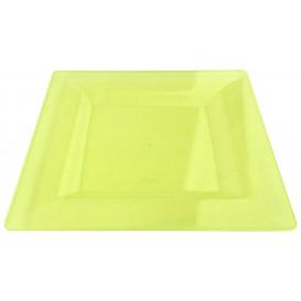 Plastic bord Vierkant extra sterk groen 20x20cm (88 stuks)