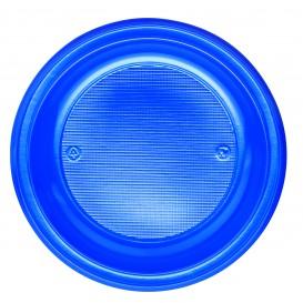 Plastic bord PS Plat donkerblauw Ø22 cm (780 stuks)