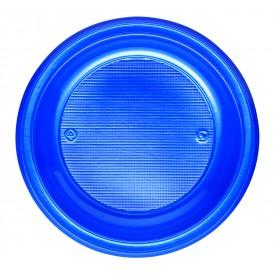 Plastic bord PS Diep donkerblauw Ø22 cm (30 stuks)