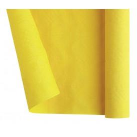 Papieren tafelkleed rol geel 1,2x7m (1 stuk)