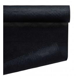 Papieren tafelkleed rol zwart 1,2x7m (1 stuk)