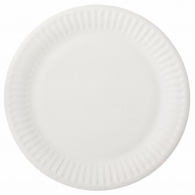 Papieren bord wit 15 cm (2000 stuks)