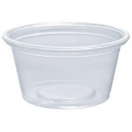 Plastic PP Soufflébeker transparant 25ml Ø4,8cm (125 stuks)