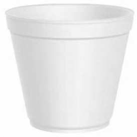 Schuim Container wit 20 Oz/600ml Ø11,7cm (500 stuks)