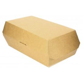 Papieren Sandwich Container kraft 20x10x8cm (200 stuks)