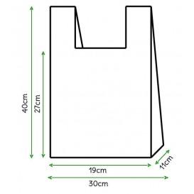 Plastic T-shirt tas wit 30x40cm (6000 stuks)