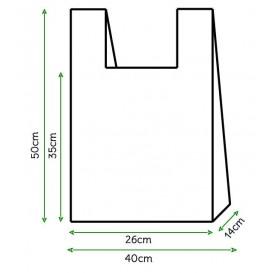 Plastic T-shirt tas wit 40x50cm (4000 stuks)