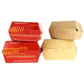 Kartonnen hamburger bakjes XXL 14,5x14,5x8cm (400 stuks)
