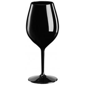 """Plastic herbruikbaar glas Wijn """"Tritan"""" zwart 510ml (6 stuks)"""