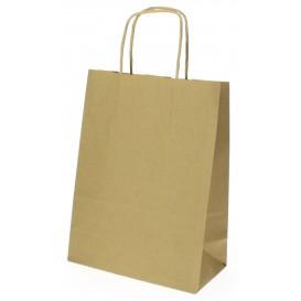 Papieren zak met handgrepen kraft Hawanna 100g 18+8x24cm (400 stuks)