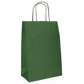 Papieren zak met handgrepen kraft groen 80g 20+10x29cm (250 stuks)