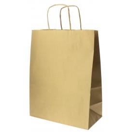 Papieren zak met handgrepen kraft Hawanna 100g 24+12x31cm (250 stuks)