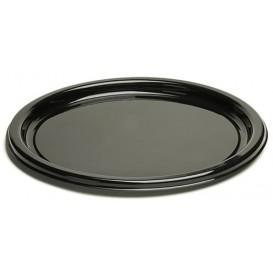 Plato de Plastico Redondo Negro 18 cm (25 Uds)
