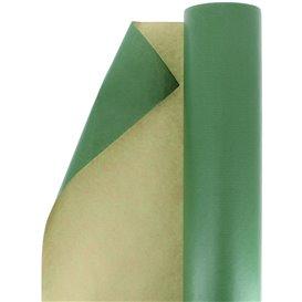 Papieren rol van inpakpapier kraft groen 100m (1 stuk)