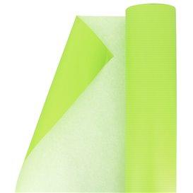 Papieren rol van inpakpapier groen 100m (1 stuk)