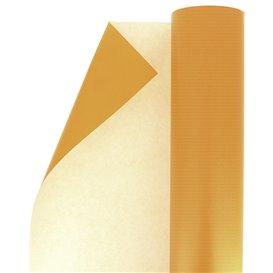 Papieren rol van inpakpapier Cellulose oranje 100m (1 stuk)