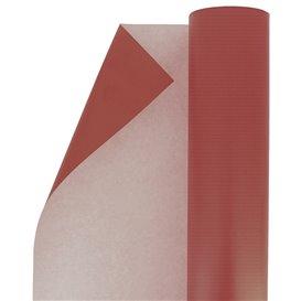 Papieren rol van inpakpapier kraft rood 100m (1 stuk)