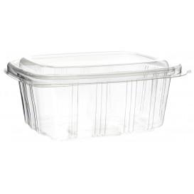 Plastic scharnierende Deli-Container OPS hoog koepel Deksel 750ml (50 stuks)