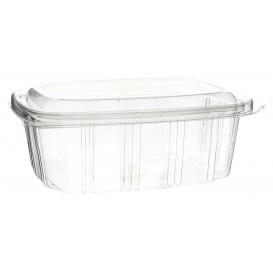 Plastic scharnierende Deli-Container OPS hoog koepel Deksel 1000ml (350 stuks)
