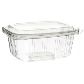 Plastic scharnierende Deli-Container PET hoog koepel Deksel 750ml (50 stuks)
