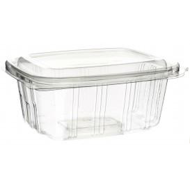 Plastic scharnierende Deli-Container PET hoog koepel Deksel 750ml (350 stuks)
