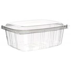 Plastic scharnierende Deli-Container PET hoog koepel Deksel 1000ml (50 stuks)