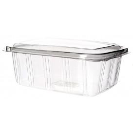 Plastic scharnierende Deli-Container PET hoog koepel Deksel 2000ml (25 stuks)
