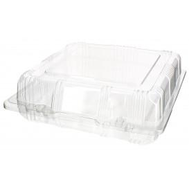 Plastic scharnierende bakkerij Container PET18x18x6cm (20 stuks)