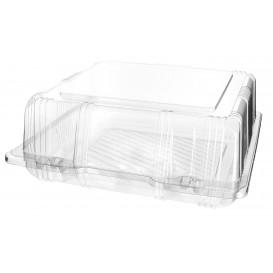 Plastic scharnierende bakkerij Container PET 20x20x8cm (220 stuks)