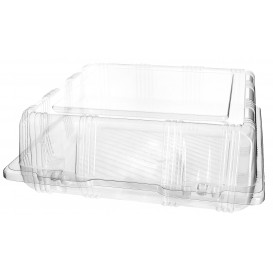 Plastic scharnierende bakkerij Container PET 22x22x8cm (20 stuks)