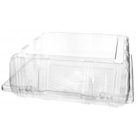 Plastic scharnierende bakkerij Container PET 22x22x8cm (220 stuks)