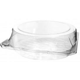 Plastic scharnierende bakkerij Container PET Ø23x8cm (23 stuks)