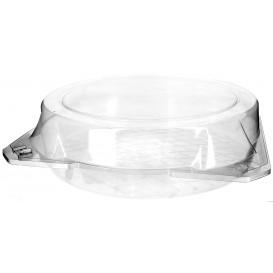 Plastic scharnierende bakkerij Container PET Ø27x8cm (25 stuks)