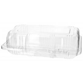 Plastic scharnierende bakkerij Container PET 18x9,5x6cm (220 stuks)