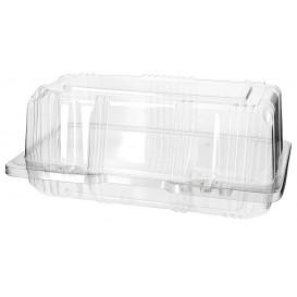 Plastic scharnierende bakkerij Container PET 18x9,5x8cm (20 stuks)
