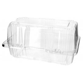 Plastic scharnierende bakkerij Container PET 18x9,5x10cm (20 stuks)
