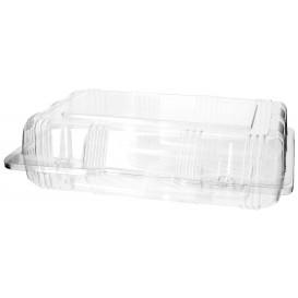 Plastic scharnierende bakkerij Container PET 22x14,5x6cm (220 stuks)