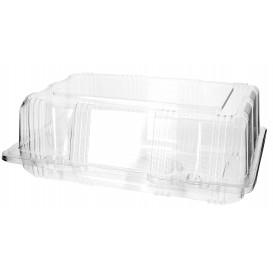 Plastic scharnierende bakkerij Container PET 22x14,5x8cm (220 stuks)