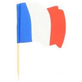 Vlag van Frankrijk vleespennen 6,5cm (14400 stuks)