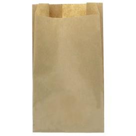 Papieren voedsel zak kraft 14+7x24cm (100 eenheden)