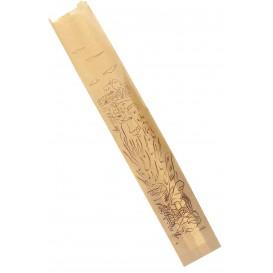 "Papieren voedsel zak ""Siega"" kraft 9+5x50cm (100 stuks)"