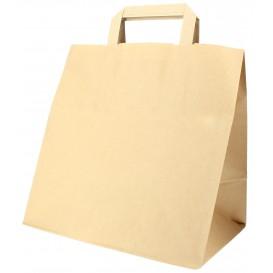 Papieren zak met handgrepen kraft Plat 70g 26+18x26cm (250 stuks)