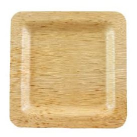 Bamboe bord Vierkant 12x12x1cm (100 stuks)