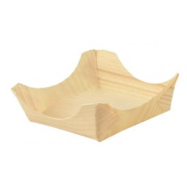 Dennenblad bediening boot dienblad 7,5x7,5x3cm (100 stuks)