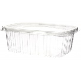 Plastic scharnierend Deksel OPS 1000ml (60 stuks)