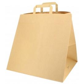 Papieren zak met handgrepen voor Pizza Boxes 80g 37+33x32cm (125 stuks)