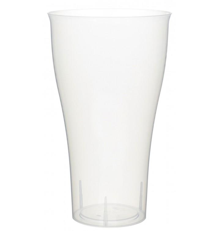 Plastic PP beker Cocktail transparant 430ml (15 stuks)