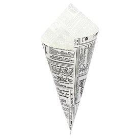 """Papieren voedsel kegel Vetvrij """"Times"""" 29,5cm 250g (250 stuks)"""